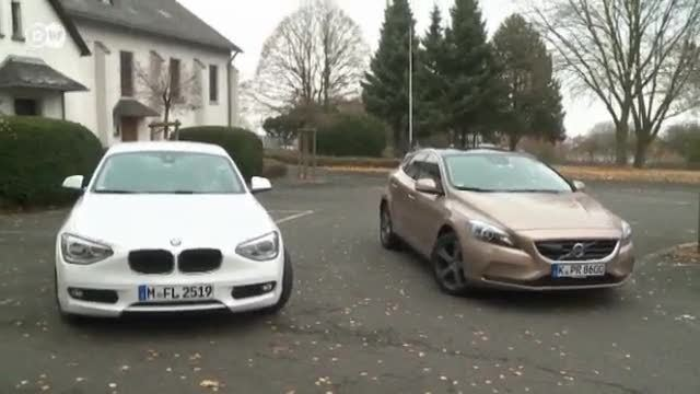 BMW 1er vs. Volvo V40 (Screenshot: Deutsche Welle)