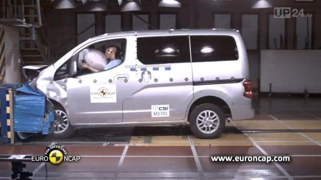 Nissan Evalia versagt bei Crashtest (Screenshot: United Pictures)