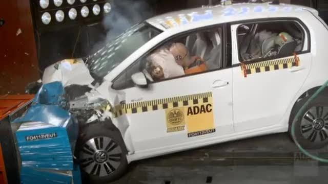 volkswagen e up im adac crashtest video. Black Bedroom Furniture Sets. Home Design Ideas