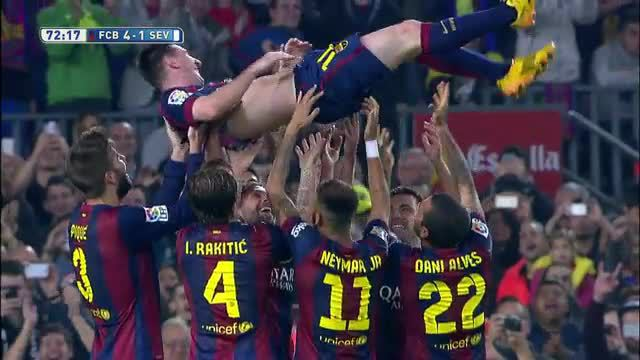 Lionel Messi stellt Uralt-Torrekord ein (Screenshot: LAOLA1.tv)