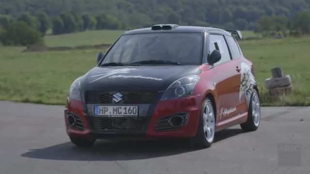 Der Turbo-Flitzer: Suzuki Swift Hayabusa. (Screenshot: ADAC)