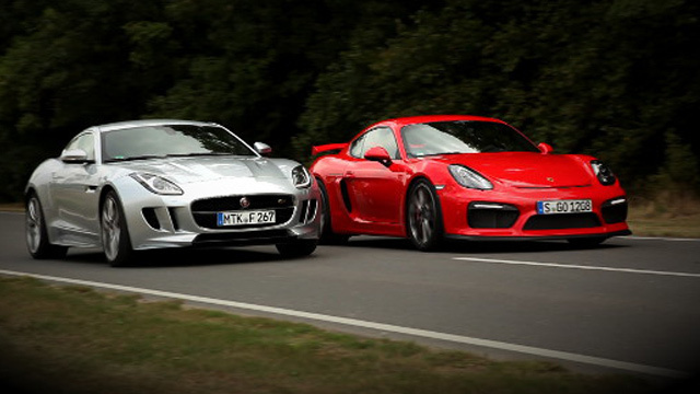 Porsche Cayman GT4 vs. Jaguar F-Type AWD S. (Foto: Car News TV)
