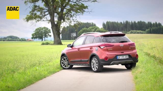 Offroad-Optik: Hyundai-Active i20 im Test. (Screenshot: ADAC)