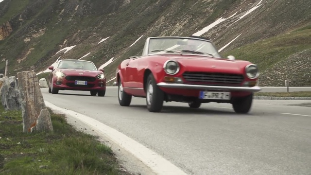 Fiat 124 Spider 1966 vs. Fiat Spider 2016. (Screenshot: die-autotester.com)
