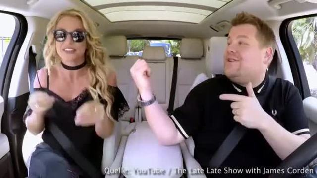 Britney Spears zu Gast bei 'Carpool Karaoke'. (Screenshot: Bit Projects)