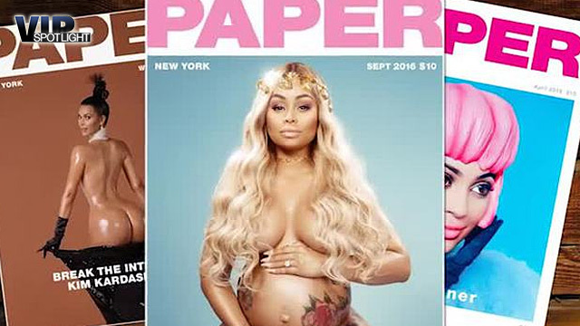 Blac Chyna komplett nackt auf Magazin-Titel. (Screenshot: Bit Projects)