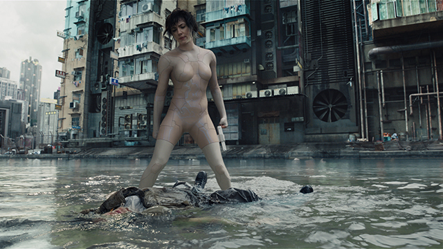 "Scarlett Johansson nackt in ""Ghost in the Shell"""
