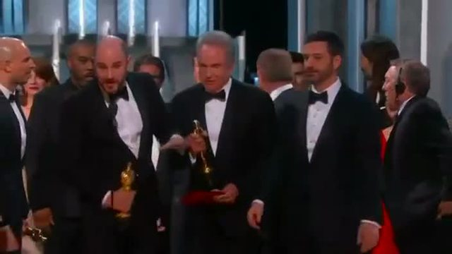 'Moonlight' gewinnt Oscar nach peinlicher Panne. (Screenshot: Reuters)